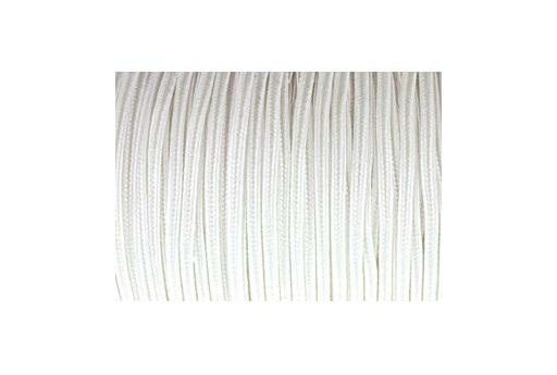 Rayon Soutache Cord Snow White 3mm - 5mtr