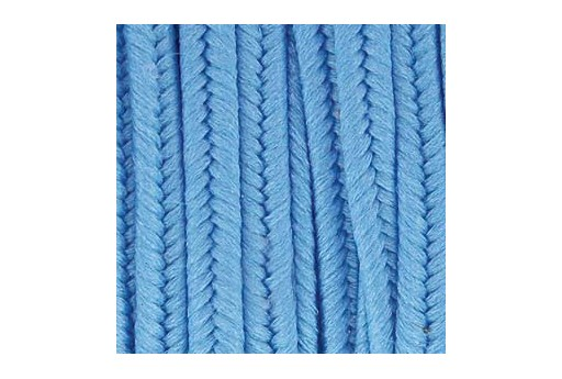 Polyester Soutache Cord Medium Blue 3mm - 5mtr