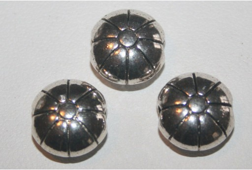 Pasticche Argento Tibetano 12x6,5mm - 4pz
