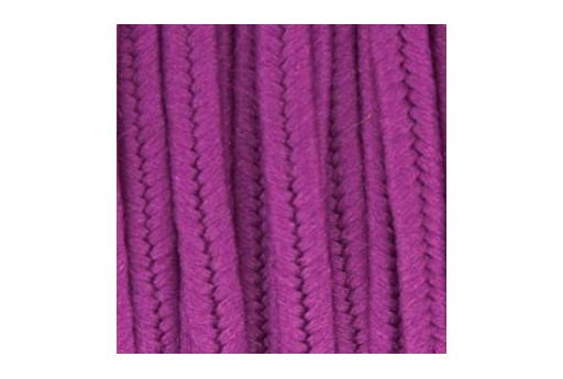 Piattina Soutache in Poliestere Magenta 3mm - 5mt