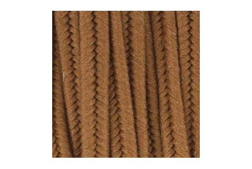 Polyester Soutache Cord Light Brown 3mm - 5mtr
