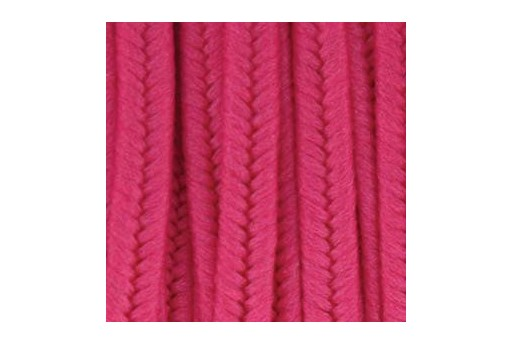 Piattina Soutache in Poliestere Deep Pink 3mm - 5mt