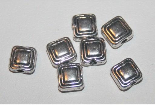 Tibetan Silver Square Spacer Beads 6x6mm - 18pcs