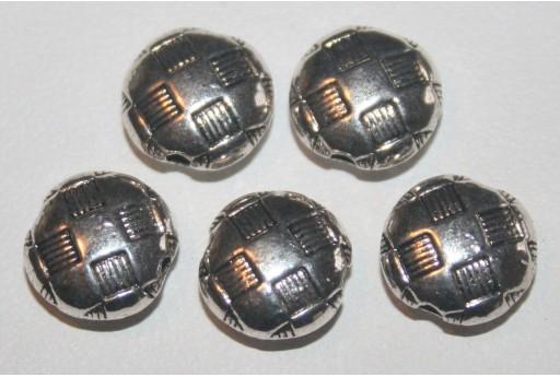 7 Pasticche Argento Tibetano 10x5mm TIB50