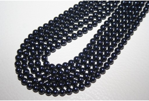 Swarovski Pearls Night Blue 5810 4mm - 20pcs