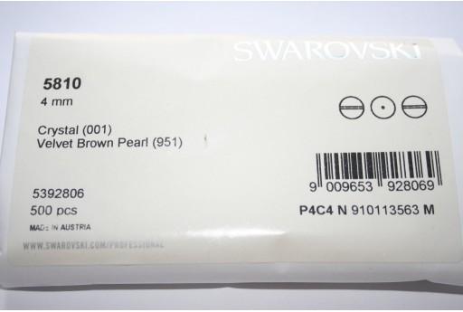Perle Swarovski Elements 5810 Confezione Ingrosso Velvet Brown 4mm - 500pz