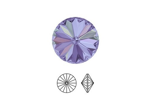 Swarovski Rivoli Round Stone 1122 Vitrail Light 12mm - 2pcs