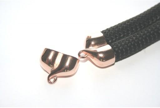 Climbing Tappo con Asola per 2 Corde Oro Rosa 25x20mm - 1pz