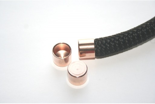 Climbing Rose Gold Cord End Cap 10x12mm - 1pc