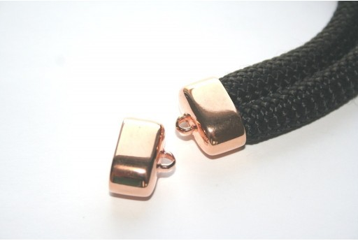 Climbing 2-Strand Rose Gold Cord End Cap 17x23mm - 1pc