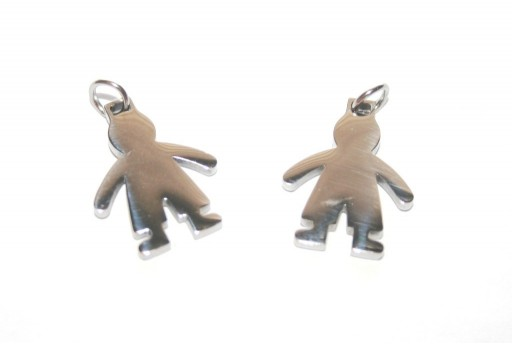 Stainless Steel Boy Charms 18x14mm -1pcs