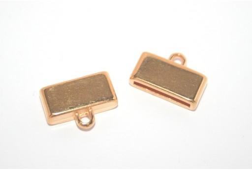 Gold Flat Cord End 15mm - 1pcs