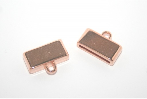 Rose Gold Flat Cord End 15mm - 1pcs