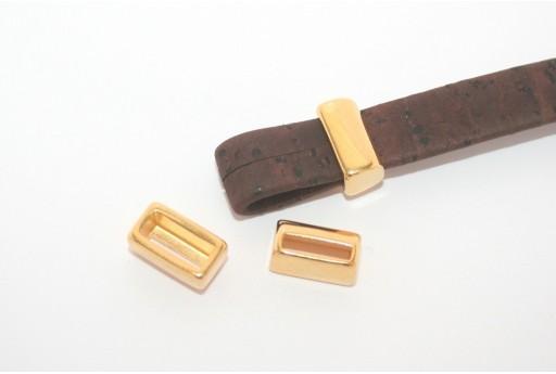 Componente Metallo Zama Corda Piatta Oro 8x13mm - 2pz