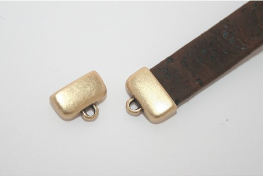Brass Flat Cord End 13x7,8mm - 2pcs