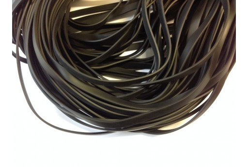 Flat Rubber Cord Black 10mm - 1m