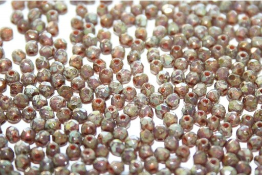 Fire Polished Beads Milky Amethyst Picasso 2mm - 80pz