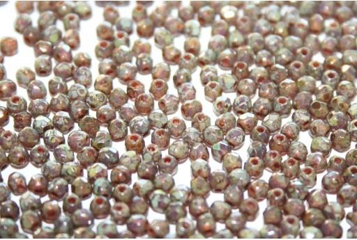 Perline Mezzi Cristalli Milky Amethyst Picasso 2mm - 80pz