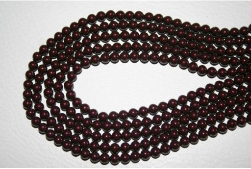 Swarovski Pearls Maroon 5810 4mm - 20pcs