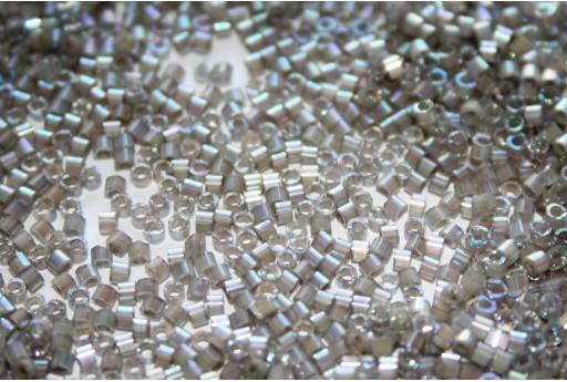 Perline Delica Miyuki Silk Inside Dyed Pewter AB 11/0 - 8gr