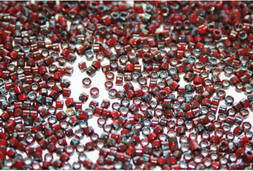 Miyuki Delica Beads Opaque Red Picasso 11/0 - 8gr