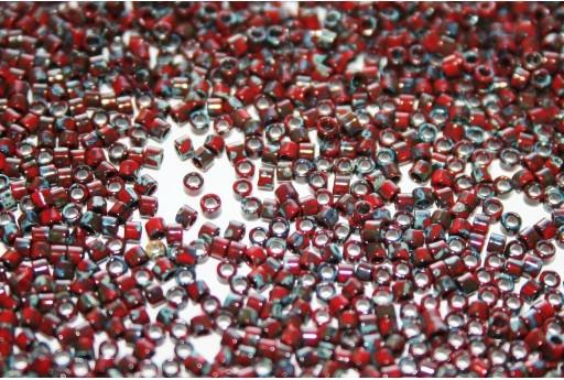 Perline Delica Miyuki Opaque Red Picasso 11/0 - 8gr