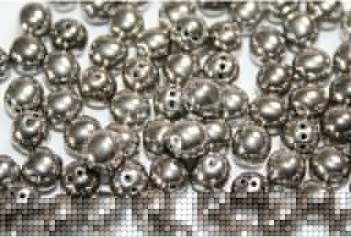 RounTrio® Beads Jet Argentic Full 6mm - 300pcs