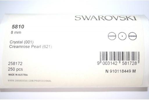 Perle Swarovski 5810 Confezione Ingrosso Creamrose 8mm - 250pz