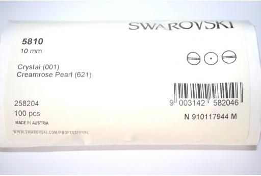Perle Swarovski 5810 Confezione Ingrosso Creamrose 10mm - 100pz