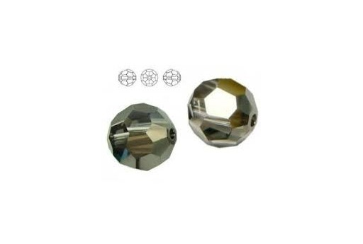 Round Swarovski Silver Night 10mm - 2pz