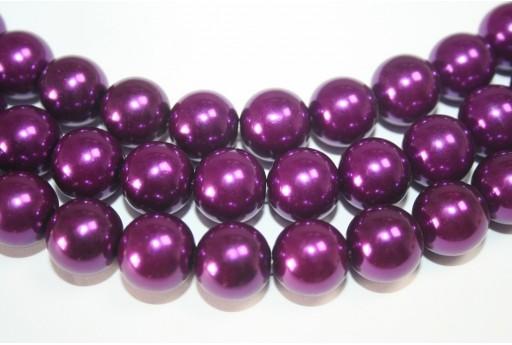 Perle Cerate Viola Scuro 14mm - 30pz