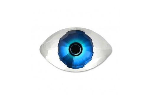 Cabochon Eye Swarovski 4775 Crystal Blue 18x10,5mm - 1pcs