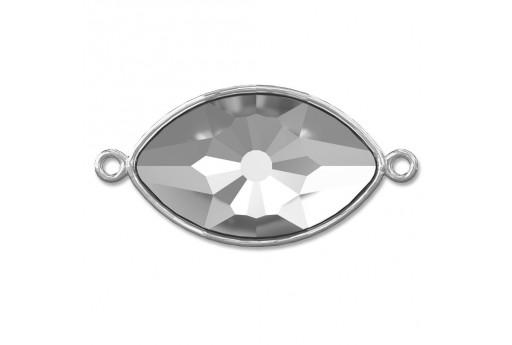 Silver Plated Setting Connector Eye Swarovski 4775/C 18x10,5mm - 1pcs