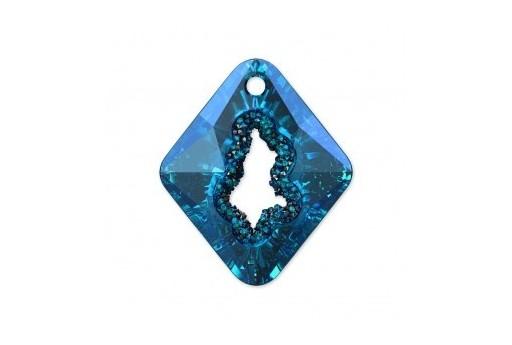 Growing Crystal Rhombus Swarovski 6926 Bermuda Blue 36mm - 1pcs