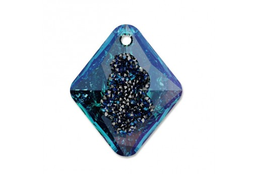 Growing Crystal Rhombus Swarovski 6926 Bermuda Blue 26mm - 1pcs