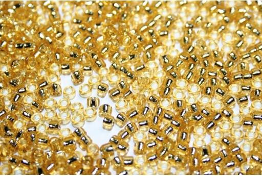 Toho Seed Beads Silver Lined Light Topaz 8/0 - 10g
