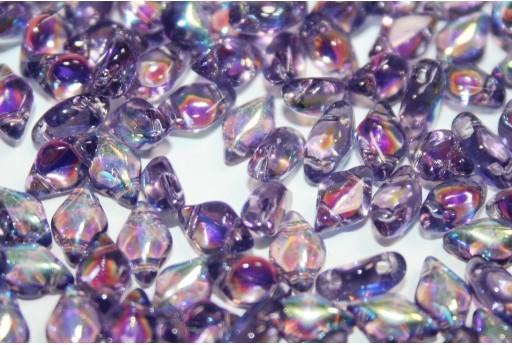 Perline GemDuo Matubo Tanzanite AB 8x5mm - 10gr