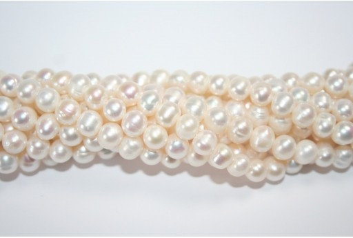 Freshwater Pearls White Potato 7-8mm - 56pcs