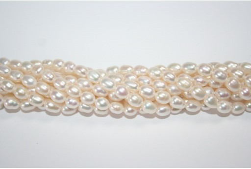Freshwater Pearls White Rice 5-6mm - 56pcs