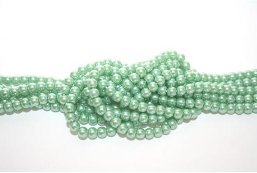 Perle Cerate Vetro Verde Chiaro 4mm - 105pz