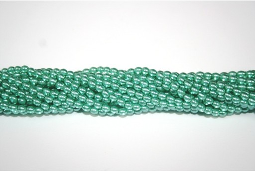 Perle Cerate Vetro Rice Green 4x3mm - 60pz