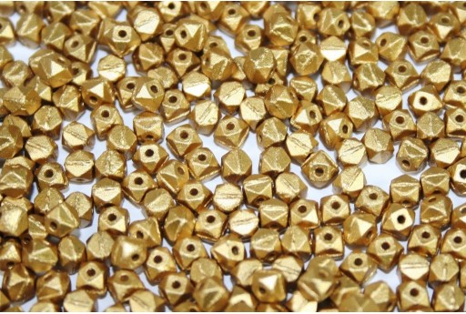 Perline Vintage Cut Nugget Metallic Velvet Gold 4mm - 50pz