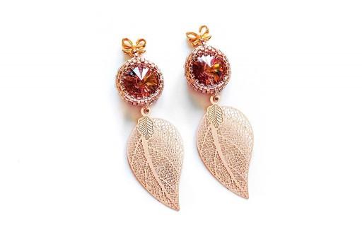 Rose Gold Earrings Kit Leaf