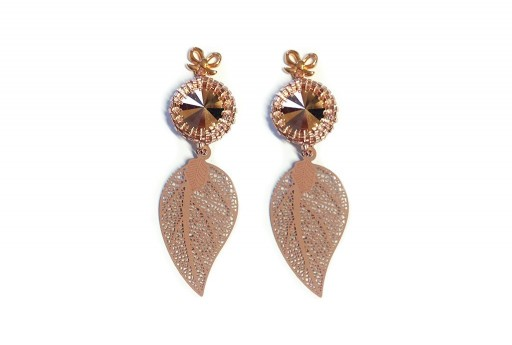 Beige Earrings Kit Leaf