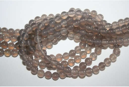 Agate Beads Grey Sphere 6mm - 64pz
