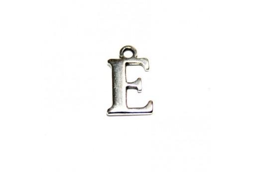 Charm Alfabeto Metallo Zama Lettera E 12mm - 2pz