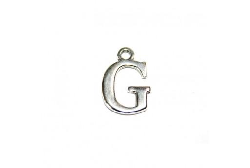Charm Alfabeto Metallo Zama Lettera G 12mm - 2pz
