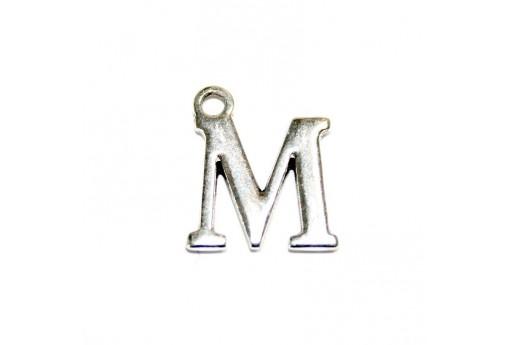 Charm Alfabeto Metallo Zama Lettera M 12mm - 2pz