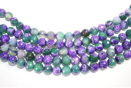 Fire Agate Beads Purple-Green Sphere 8mm - 46pz