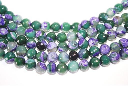 Fire Agate Beads Purple-Green Sphere 10mm - 36pz